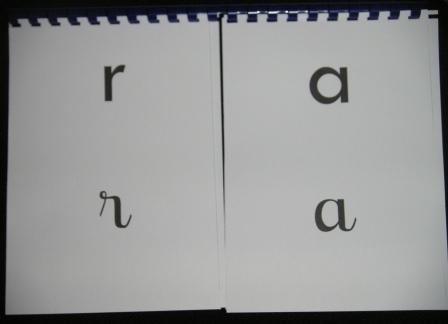 lettres mobiles script